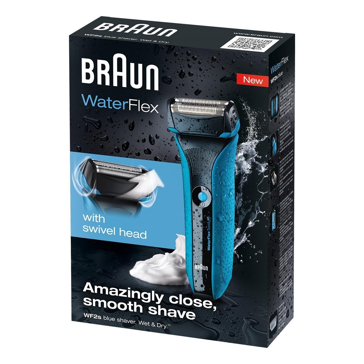 ماكينة حلاقة براون ووتر فليكس Braun Rechargeable Men's Shaver Wet&Dry Blue