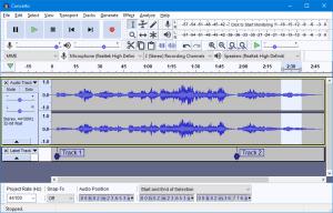 audacity برنامج تعديل الصوت